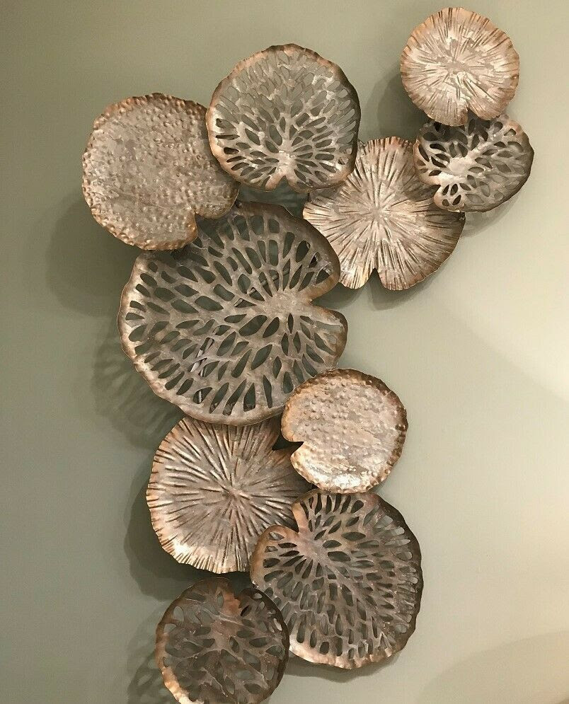 Gold Metal Lilypad Wall Art Mulberry Moon