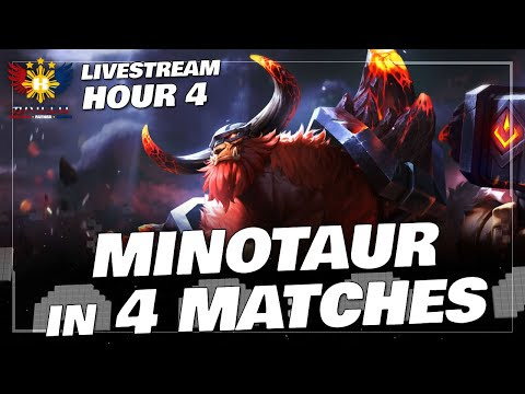 MOBILE LEGENDS Gameplay (Hour 4) MINOTAUR In FOUR MATCHES!