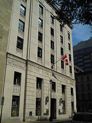 The historic Bank of Nova Scotia head office a...