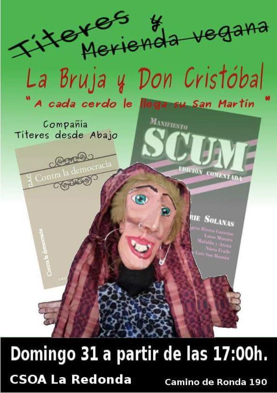 Cartel de la obra de marionetas en la que se ha exhibido un cartel en el que ponía 'Gora ALKA-ETA'