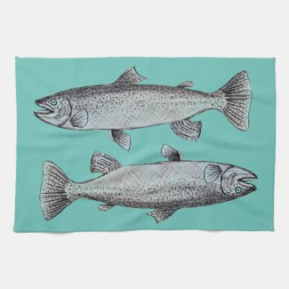 Fishes Art on Kitchen Towel
