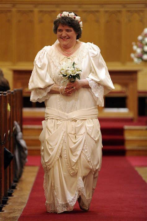 Karen McCurry wearing her own wedding dress 1989 ? Cregagh