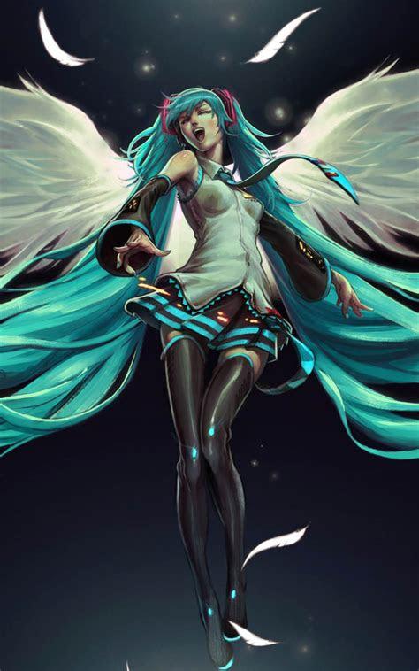 hatsune miku angel  pure  ultra hd mobile