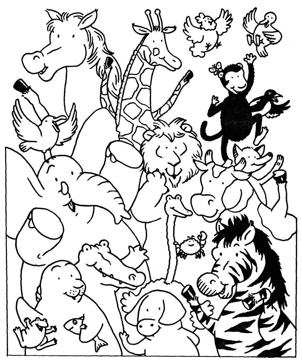 Coloriage  imprimer Animaux Animaux carnivores numéro