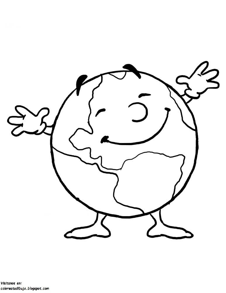 Planeta Tierra Infantil Para Colorear Estaciones Colorea El
