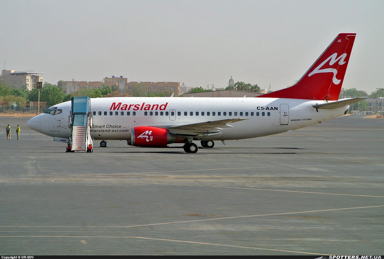 Aeolus Air Boeing 737 C5-AAN Marsland Aviation Sudan