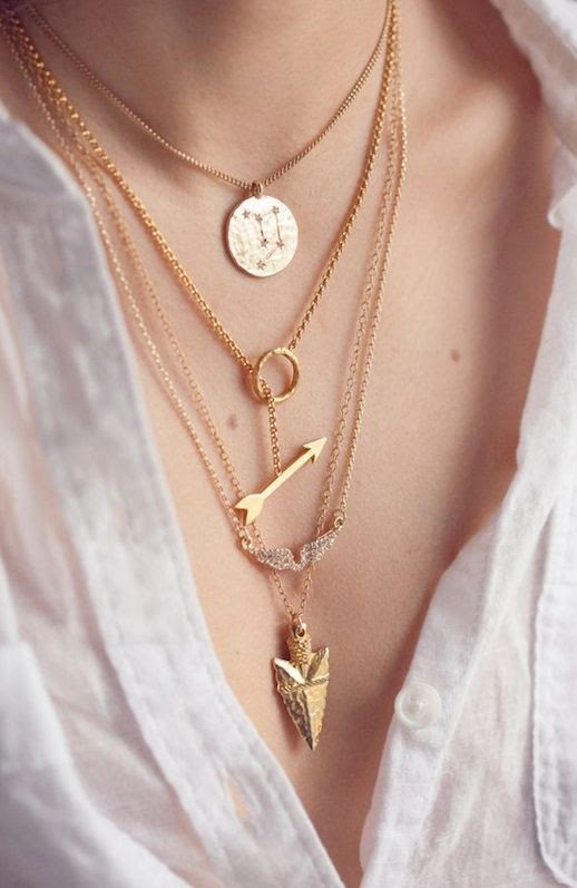 LE FASHION BLOG LAYERED PENDANT NECKLACES VIA OH MAI DARLING DELICATE NECKLACES ARROW HEAD LOOPED ARROW PAVE WING PENDANT NECKLACE ASTROLOGY ASTROLOGICAL SIGN CONSTELLATION NECKLACE LOOSE WHITE GAUZY SHIRT WHITE BUTTON UP photo LEFASHIONBLOGLAYEREDPENDANTNECKLACESVIAOHMAIDARLING.jpeg
