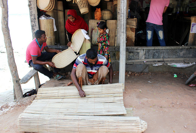 A family of bamboo artisans sells household items in Satkhira district of Bangladesh. Bamboo provides a sustainable livelihood for the poorest communities in Asia and Africa. Credit: Manipadma Jena/IPS
