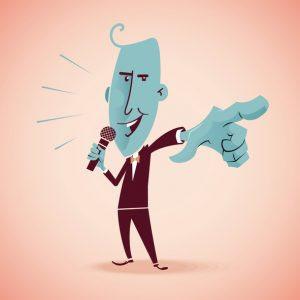 man cartoon speech
