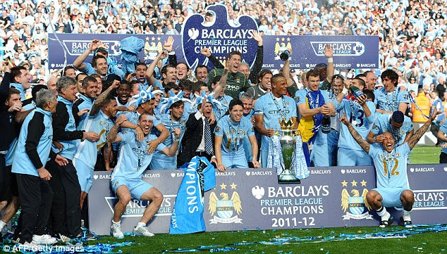Champions: Our calculations have Manchester City winning the trophy they lifted in 2012