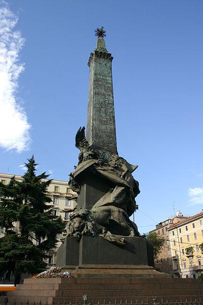 File:0318 - Milano - Giuseppe Grandi (1843-1894) - Monumento alle 5 giornate, (1895) - Foto Giovanni Dall'Orto.jpg