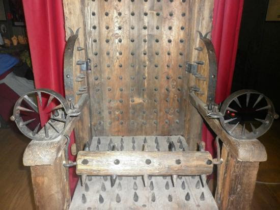 Museum of Medieval Torture Instruments: Watch out for the chair!