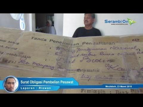 Sekeluarga di Aceh Barat Tunjukkan 5 Obligasi Pembelian Pesawat