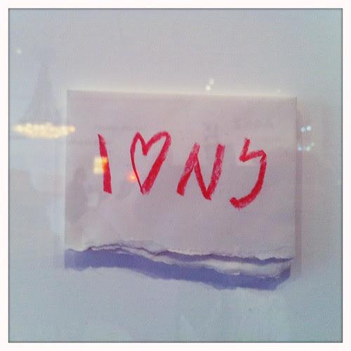 Milton Glaser's concept sketch for I♥NY by Guillermo Esteves