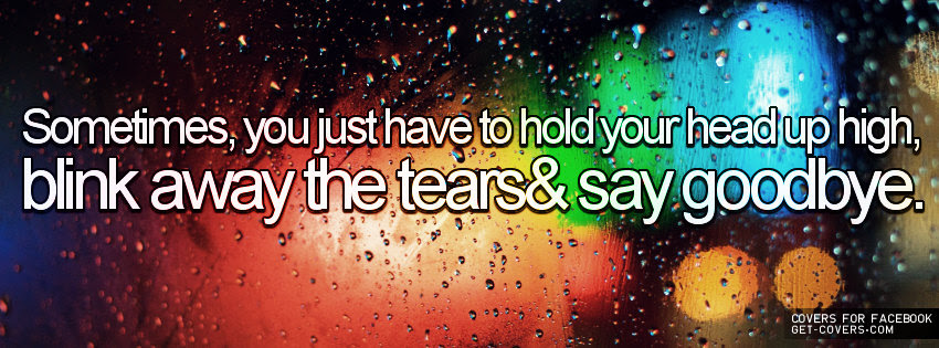 Sometimesyou Just Have To Hold Your Head Up High Break Up Quote