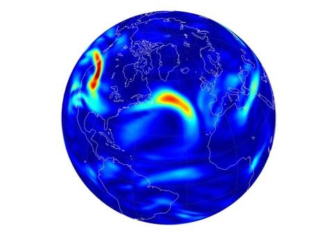 Simulación de zonas con turbulencias.  Paul Williams