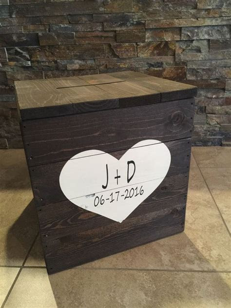Rustic Pallet Wooden Wedding Card Box by BBSIGNSDESIGNS on