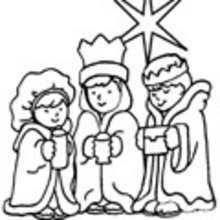 Reyes Magos Dibujos Para Colorear Manualidades Para Niños Dibujo