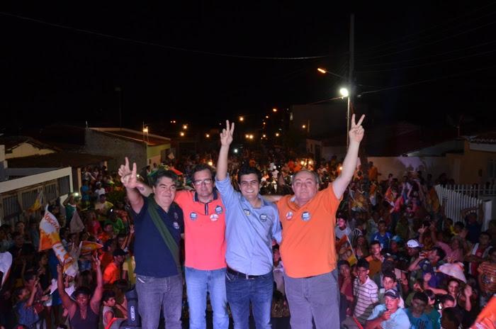 Oposição de Sousa se une, realiza grande arrastão e anuncia apoio a Wilson Filho. Fotos