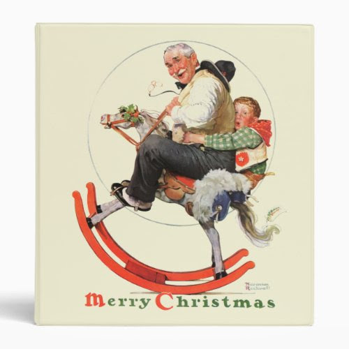 Gramps on the Rocking Horse | Merry Christmas | Funny Binder