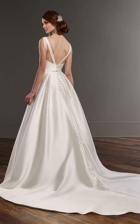 A line Wedding Dress with Hidden Pockets   Martina Liana