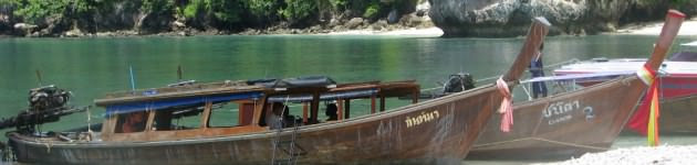 Longhaul holidays from Escape Worldwide - Longtail boats at Krabi, Thailand