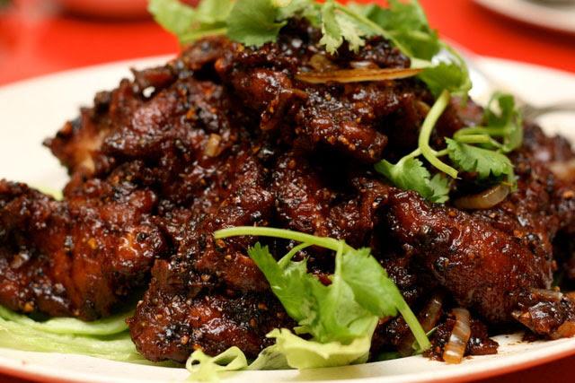 Black pepper pork chop