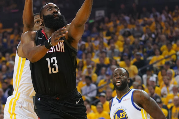 2f51b7c5ed94 Draymond Green scoffs at James Harden s Game 1 officiating complaints