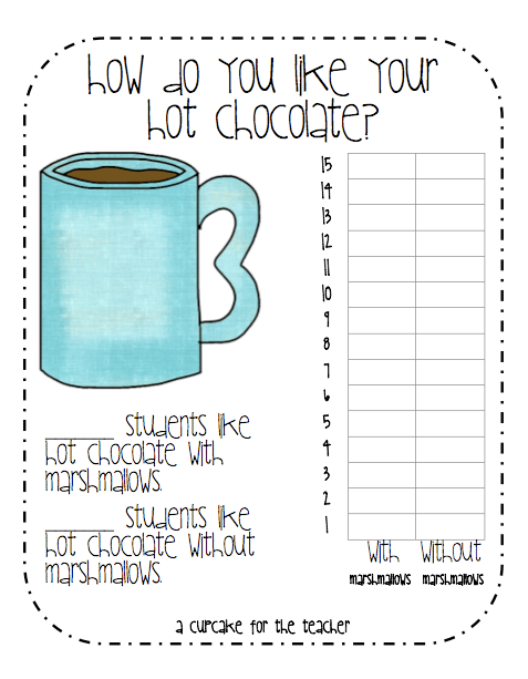 Hot Chocolate Craft + Freebie - A Cupcake for the Teacher