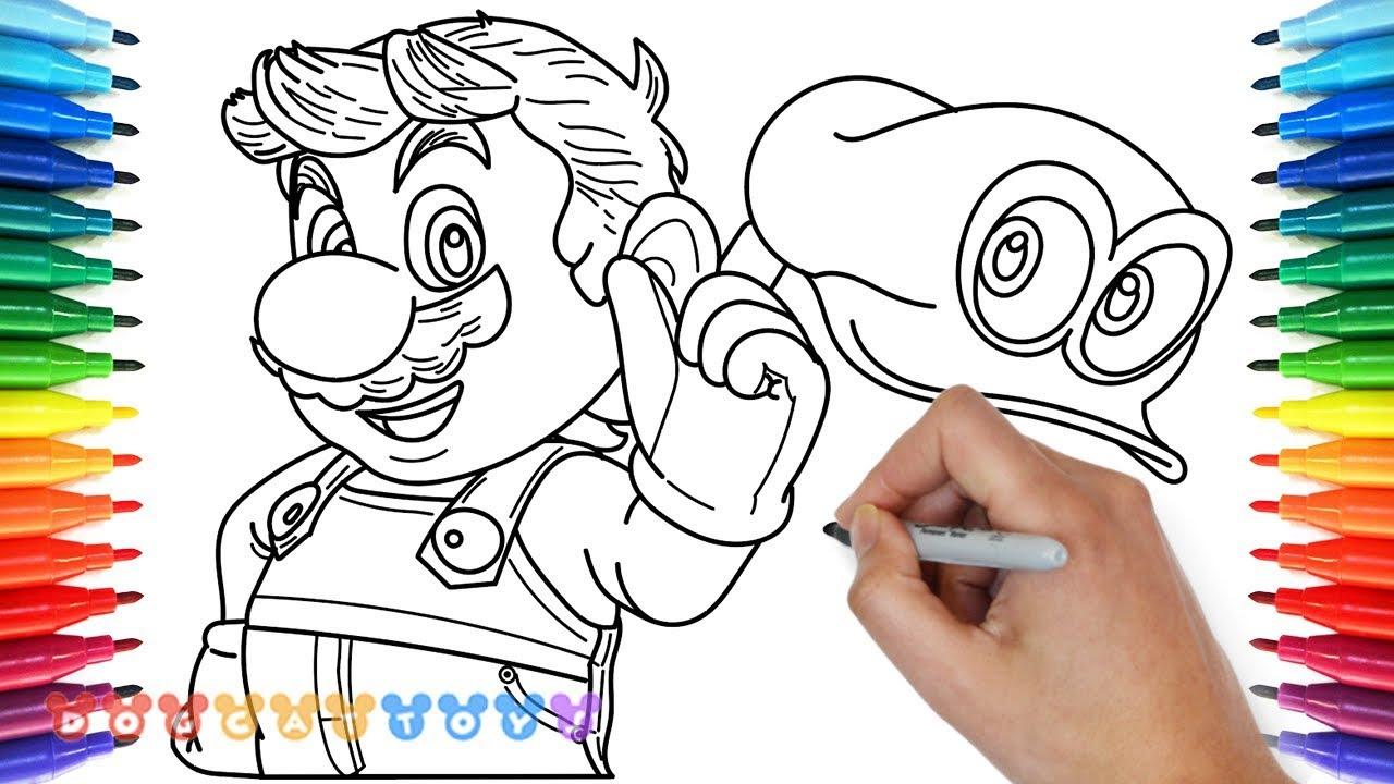 Coloriage Super Mario Odyssey Imprimer Et Obtenir Une