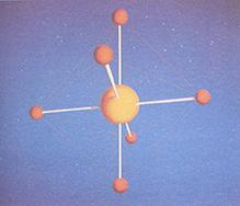 Μοριακή δομή του αερίου SF6
