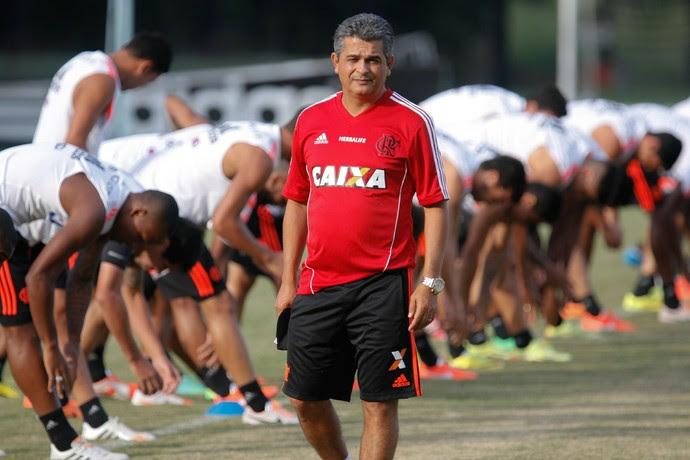 Ney Franco, Flamengo, Treino, Ninho do Urubu (Foto: Gilvan de Souza/Fla Imagem)