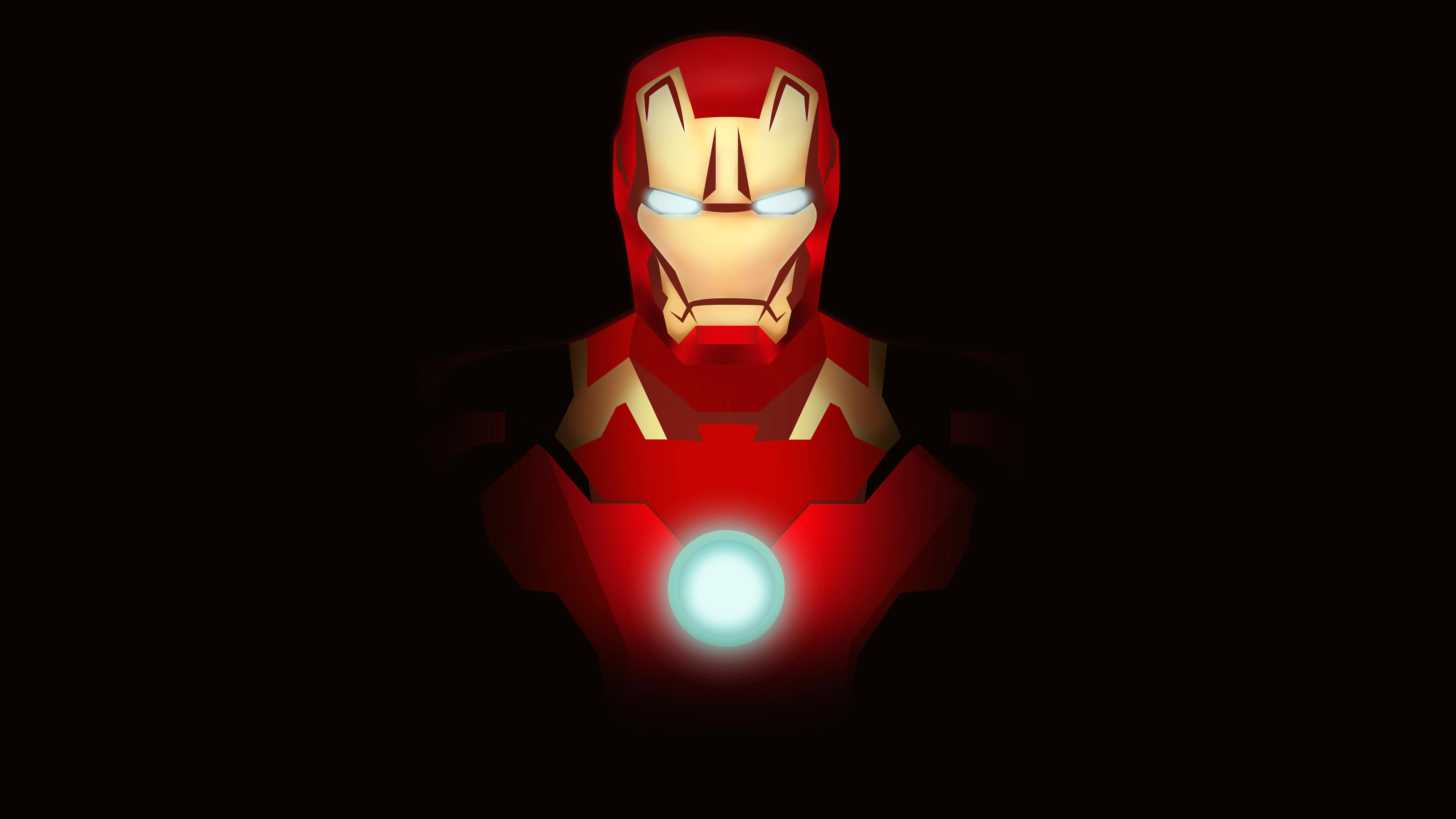 Iron Man Minimal Fan Art 4k 8k Wallpapers Hd Wallpapers