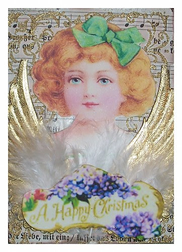 Christmas Angel Artist Trading Card