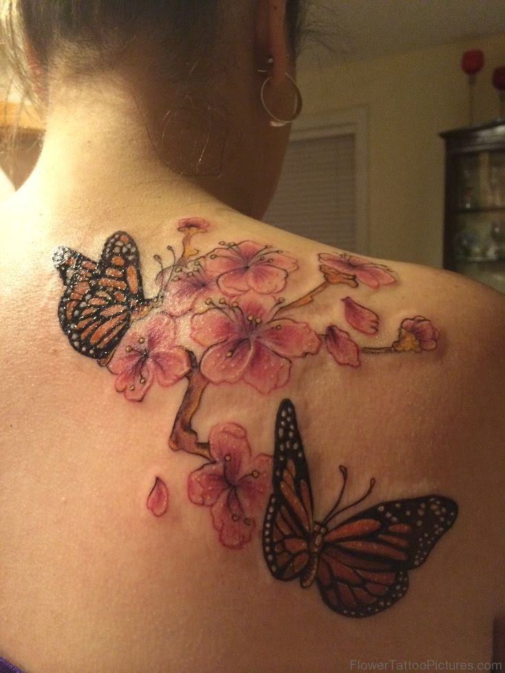 57 Best Cherry Blossom Tattoos On Back
