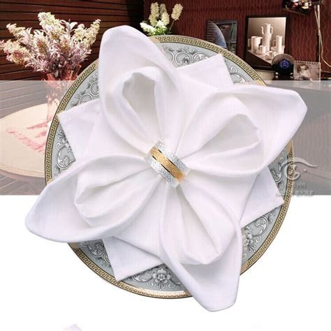 wedding napkins cloth 100% pure cotton white Cloth Napkins