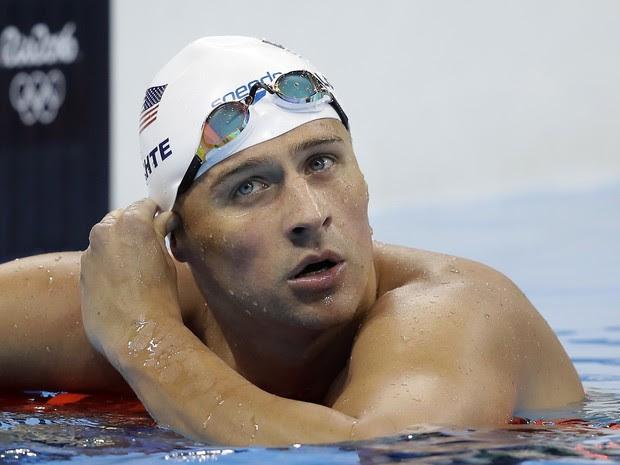 O nadador americano Ryan Lochte foi assaltado após festa durante a Olimpíada no Rio (Foto: Michael Sohn/AP Photo)
