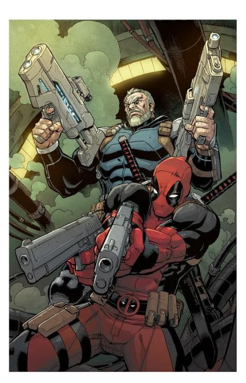 Deadpool & Cable: Split Second - Cover Art Lines by Reilly Brown Colors by Jim Charalampidis