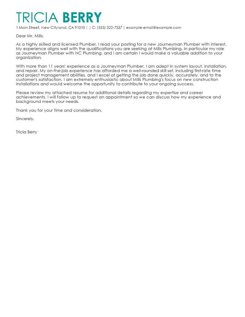 carpentry apprenticeship cover letter