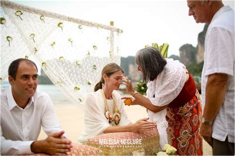 Buddhist Monk Blessing   Thai Water Ceremony ? Thailand