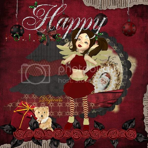 Happy Holidays,Santa,Christmas,Sprites & Imps
