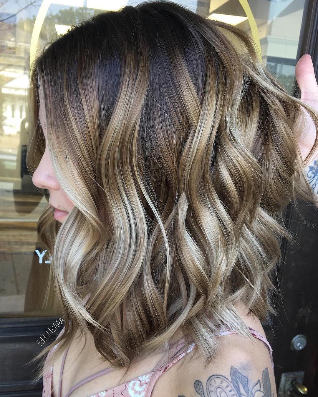 10 Ombre Balayage Hairstyles For Medium Length Hair Hair Color 2018