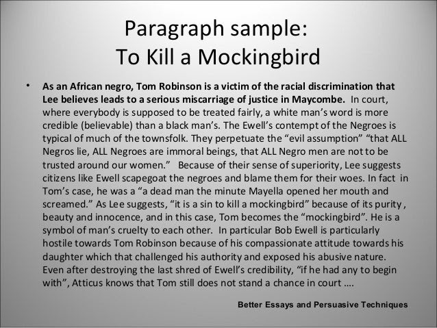 writing an essay on to kill a mockingbird