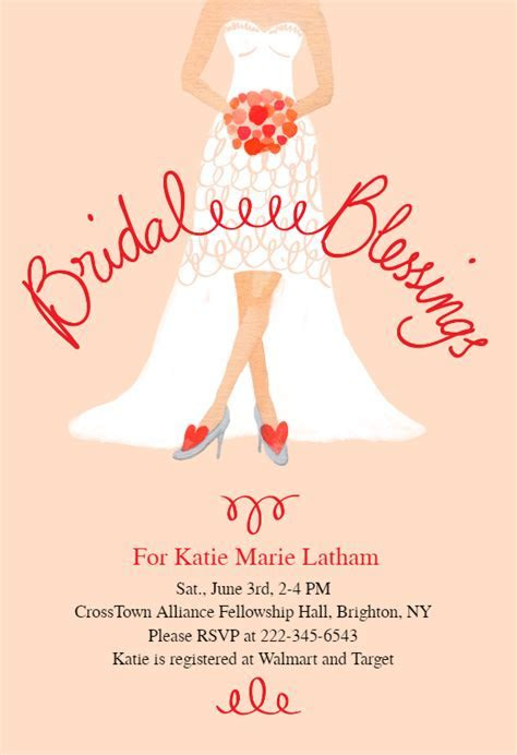 Bridal Blessings   Bridal Shower Invitation Template (Free