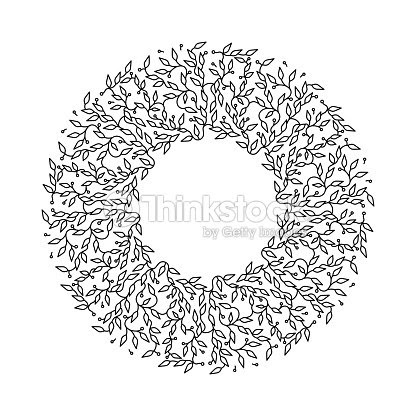 Abstract Black Color Frame Design Isolated Template White Background