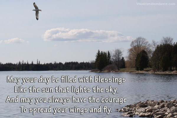 May Your Day Be Filled With Blessings Visualize Abundance