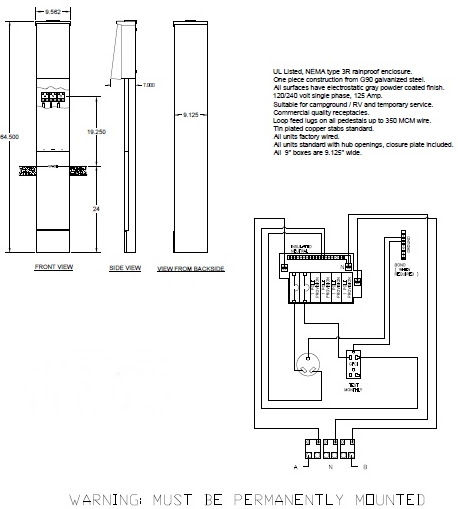 Diagram 50 Amp Rv Pedestal Wiring Diagram