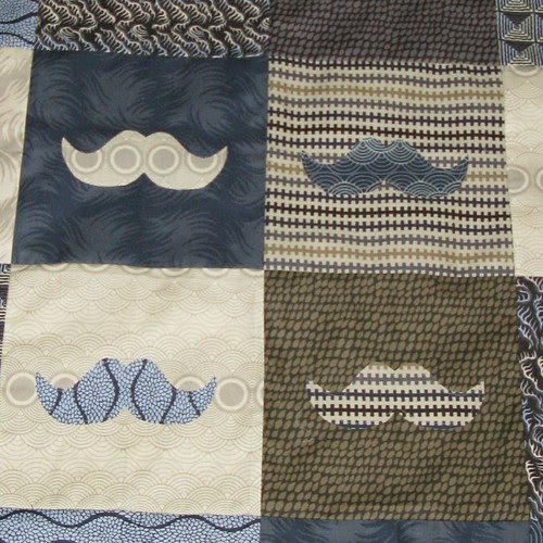 Must Dash quilt for Guy, close up