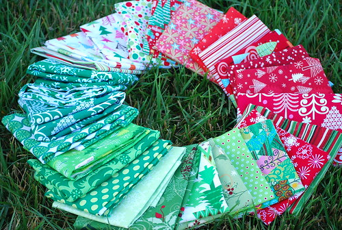 a lovely wheel of Christmas fabric