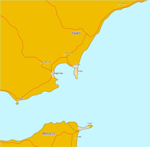 خريطة سبته الاسبانية